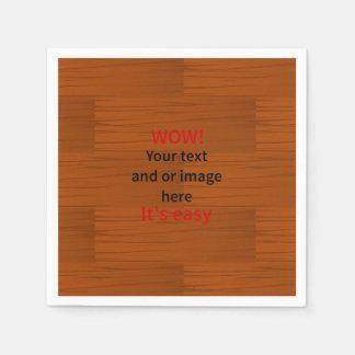 Lyer bajo de madera añade su propio texto servilletas de papel