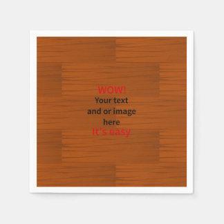 Lyer bajo de madera añade su propio texto servilletas desechables