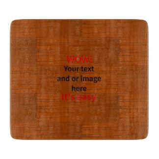 Lyer bajo de madera añade su propio texto tablas de cortar