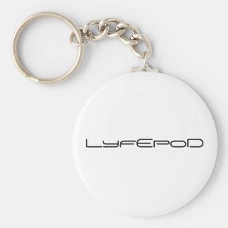 LyfEpoD Basic Round Button Keychain