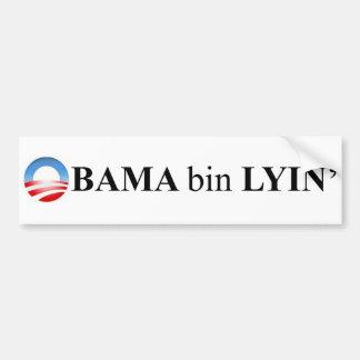 Lyin del compartimiento de Obama Pegatina De Parachoque