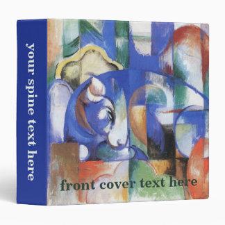 Lying Bull by Franz Marc, Vintage Cubism Art 3 Ring Binder