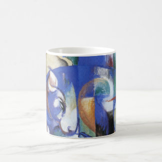 Lying Bull by Franz Marc, Vintage Cubism Art Coffee Mug