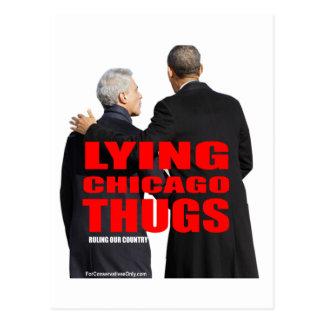 Lying Chicago Thugs Postcard