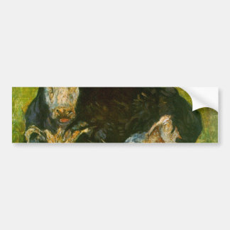Lying Cow by Vincent van Gogh Bumper Stickers