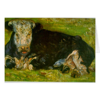 Lying Cow by Vincent van Gogh Card