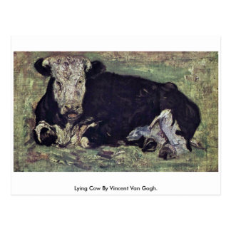 Lying Cow By Vincent Van Gogh. Post Card