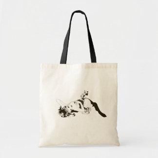 Lying Girl Canvas Bag
