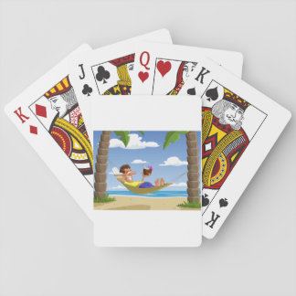 Lying On A Hammock Playing Cards