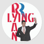 Lying Ryan Classic Round Sticker