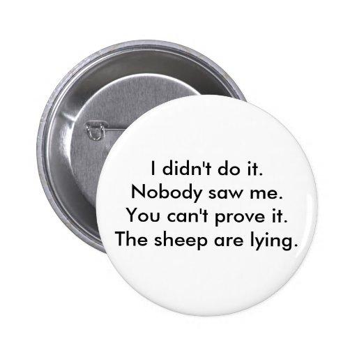 Lying Sheep Button