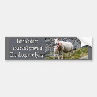 Lying Sheep Car Bumper Sticker
