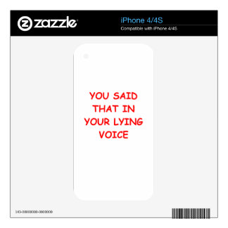 lying decal for iPhone 4