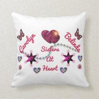 LYLAS Love You Like A Sister Throw Pillow