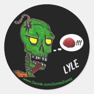 LYLE the Zombie sticker