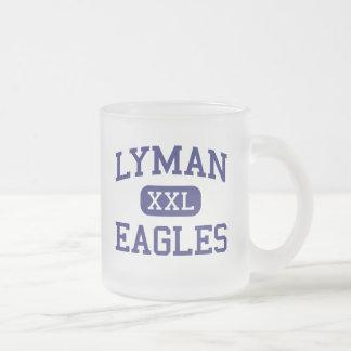 Lyman Eagles Middle School Lyman Wyoming 10 Oz Frosted Glass Coffee Mug