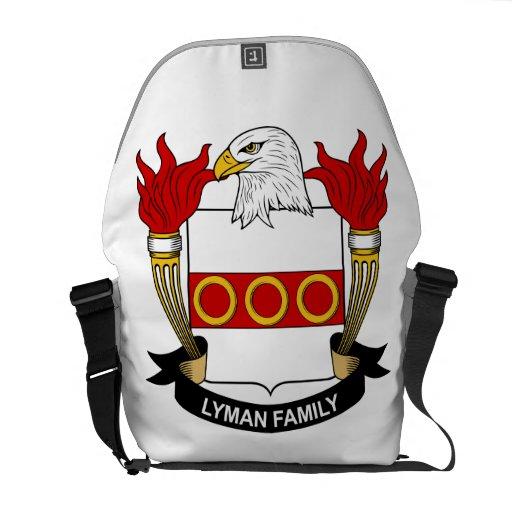 Lyman Family Crest Messenger Bag