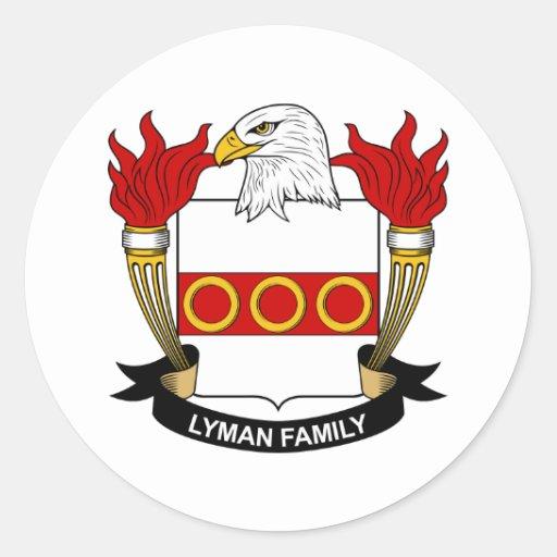 Lyman Family Crest Sticker
