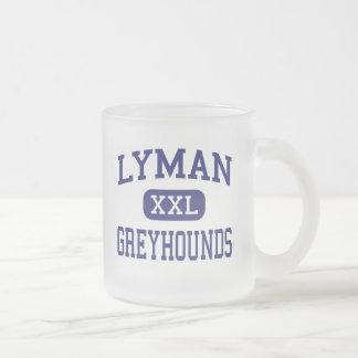 Lyman - Greyhounds - High - Longwood Florida 10 Oz Frosted Glass Coffee Mug