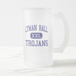 Lyman Hall - Trojans - High - Wallingford 16 Oz Frosted Glass Beer Mug