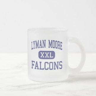 Lyman Moore Falcons Middle Portland Maine 10 Oz Frosted Glass Coffee Mug