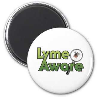 Lyme Aware Gear 2 Inch Round Magnet