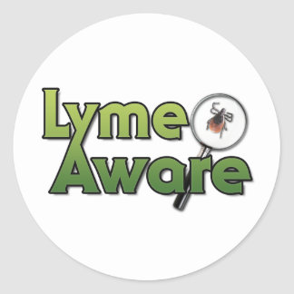 Lyme Aware Gear Round Stickers