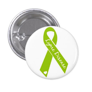 Lyme Awareness Ribbon Button