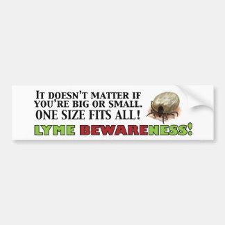 Lyme Bewareness! Car Bumper Sticker