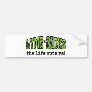 Lyme chupa etiqueta de parachoque