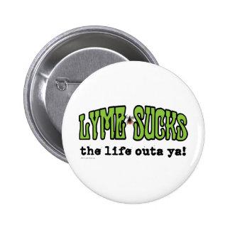 Lyme chupa pin redondo de 2 pulgadas