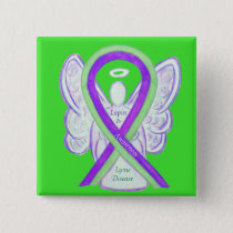 Lyme Disease and Lupus Awareness Ribbon Buttons