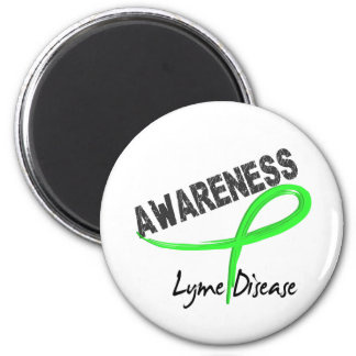 Lyme Disease Awareness 3 2 Inch Round Magnet
