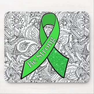 Lyme Disease Awareness Be Strong Ribbon Mouse Pad