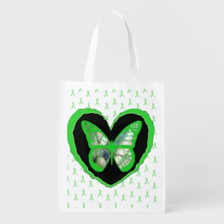 Lyme Disease Awareness Butterfly and Ribbons