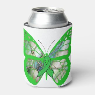Lyme Disease Awareness Butterfly Can Holder