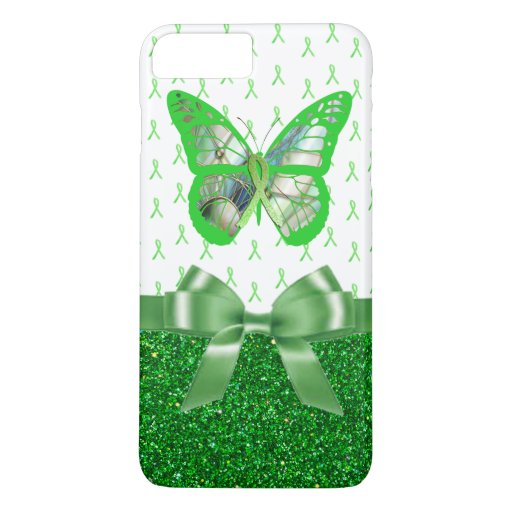 Lyme Disease Awareness Butterfly Faux Glitter