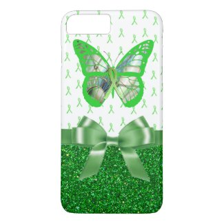 Lyme Disease Awareness Butterfly Faux Glitter