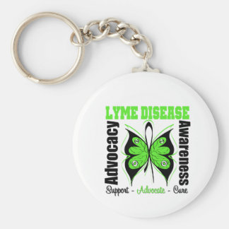 Lyme Disease Awareness Butterfly Keychains