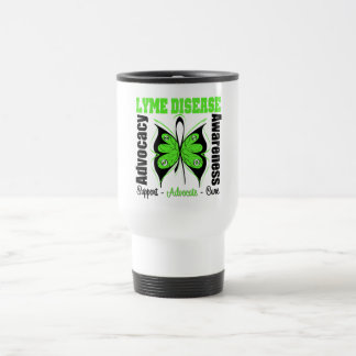 Lyme Disease Awareness Butterfly Coffee Mugs