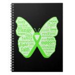 Lyme Disease Awareness Butterfly Ribbon Journal