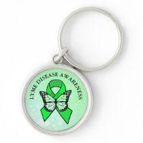 Lyme Disease Awareness Butterfly Ribbon Keychain