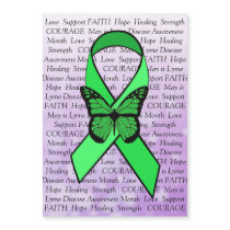 Lyme Disease Awareness Butterfly Ribbon Magnet