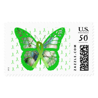 Lyme Disease Awareness Butterfly Ribbons Stamp