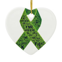 Lyme disease awareness ceramic ornament