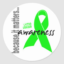 Lyme Disease Awareness Classic Round Sticker