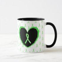 Lyme Disease Awareness Coffee Mug with Lyme ribbon