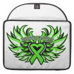 Lyme Disease Awareness Heart Wings Sleeves For MacBook Pro