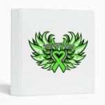 Lyme Disease Awareness Heart Wings Vinyl Binders