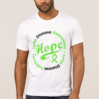 Lyme Disease Awareness Hope Circular v2 T-Shirt